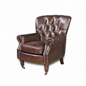Canapé Chesterfield Cuir : canap chesterfield cuir vintage 40 salon ~ Teatrodelosmanantiales.com Idées de Décoration