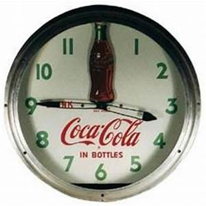 Coca Cola rare clock neon rocking bottle antique