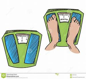 Standing Weight Scale Clipart Feet On Weight Scales ...