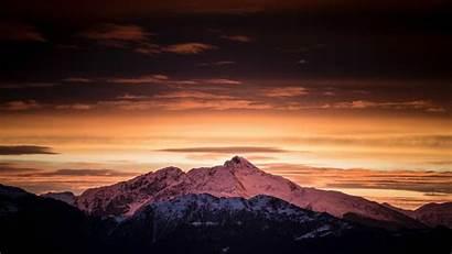Clouds 4k Dawn Mountains Nature Sunset Sky