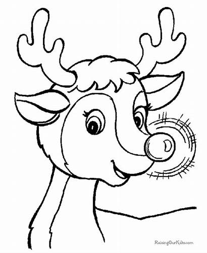 Rudolph Coloring Countdown Printable Reindeer Colouring Play