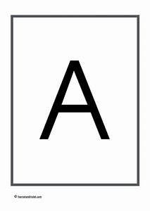 large a4 plain alphabet capital letters free teaching With print a4 size letters