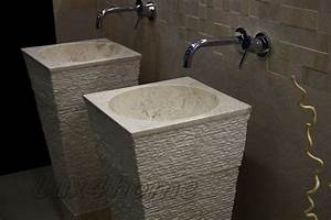 Pedestal, Sinks, Crl, 142, Hand, Made, Pedestal, Stone, Sinks, Lux4home, Com
