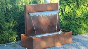 Gartenbrunnen Aus Cortenstahl : gartenbrunnen ausstellung wasserfall 90 aus cortenstahl ~ Sanjose-hotels-ca.com Haus und Dekorationen
