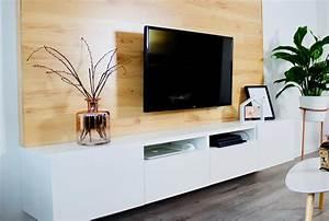 Tv Wandpaneel Holz : selfmade interior diy tv wand aus holz bauen ~ Markanthonyermac.com Haus und Dekorationen