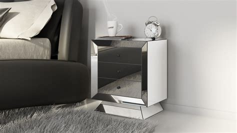 Stands Bedroom by Azul Mirrored Glass Stand Zuri Furniture