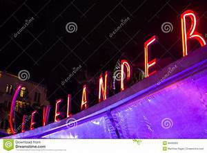 Clevelander Art Deco Neon Sign Editorial Stock Photo ...