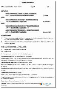 directors loan to company agreement template emsecinfo With directors loan to company agreement template