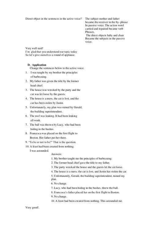 worksheet active vs passive voice worksheet grass fedjp