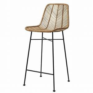Tabouret De Bar Soldes : tabouret de bar en rotin tress bloomingville sur cdc design ~ Dailycaller-alerts.com Idées de Décoration