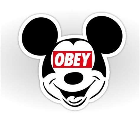 obey mickey mouse by iber via www redbubble jaime