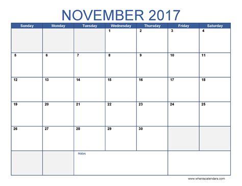 drive calendar template 2017 november 2017 calendar template calendar printable free