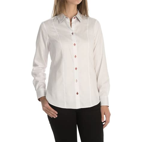 fitted blouses foxcroft fitted solid blouse for save 65