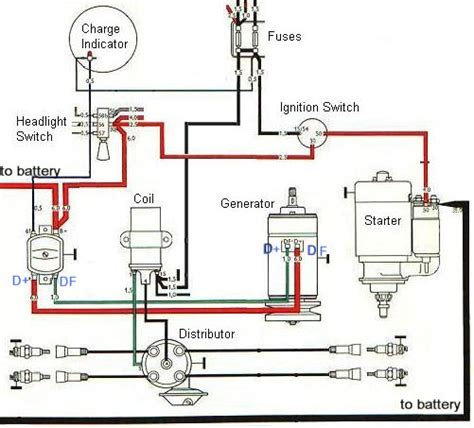 Automotive Charging System Wiring Diagram by Ignition And Charging System Diagram Baja Bugs Vw