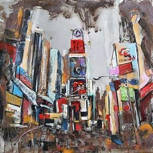 Tableau Metal En Relief : tableau m tal 3d new york city d co m tallique ~ Teatrodelosmanantiales.com Idées de Décoration