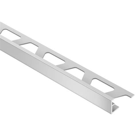 Schluter Tile Trim Home Depot by Schluter Schiene Satin Anodized Aluminum 1 2 In X 8 Ft 2