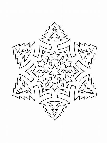 Stencils Snowflake Printable Pages Mycoloring Stencil