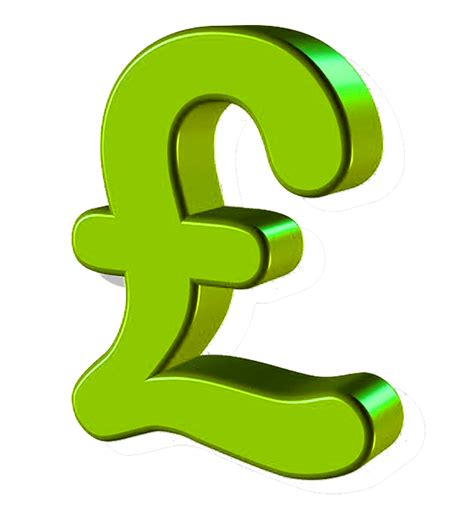 green pound sign transparent financial image