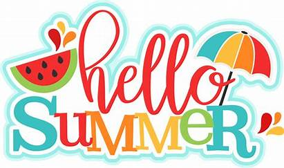 Summer Hello Summertime Clipart Transparent Closed Silhouette
