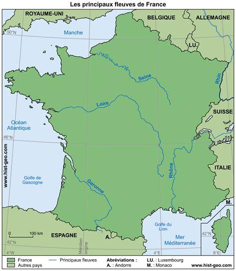Carte De Avec Fleuves Et Rivières by Carte Des Fleuves Et Rivi 232 Res De 187 Vacances Arts