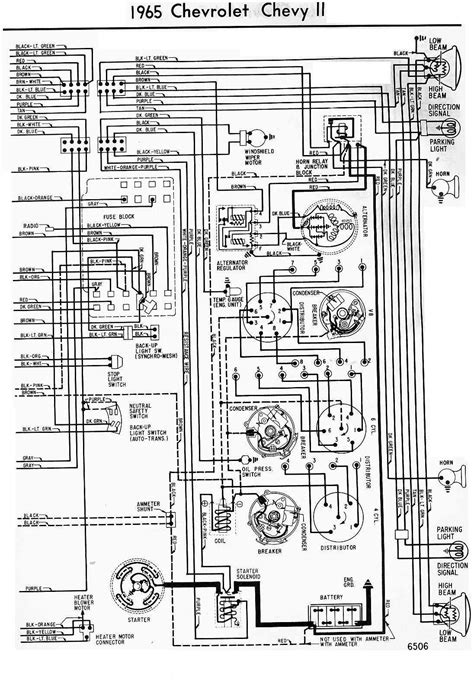 3 Wire Alternator Wiring Diagram 62 Impala by 1965 Chevrolet Chevy Ii Wiring Diagram All About Wiring