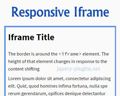jquery mobile iframe 12 powerful jquery responsive plugins ginva
