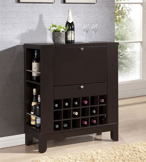 wine and bar cabinet modesto brown modern dry bar and wine cabinet interior