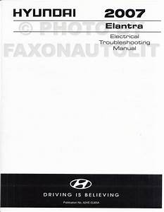 2007 Hyundai Elantra Electrical Troubleshooting Manual