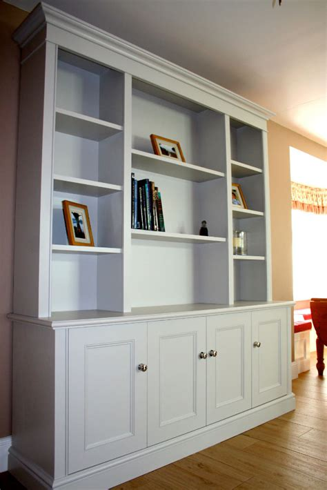 Freestanding Bookcase by Bespoke Free Standing Bookcase In Thames Ditton The