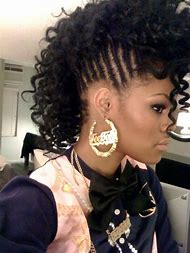 Mohawk Braids Hairstyles for Black Women