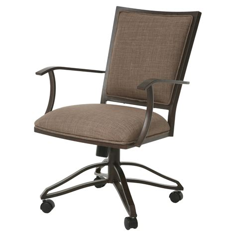 impacterra homestead arm chair with casters dining