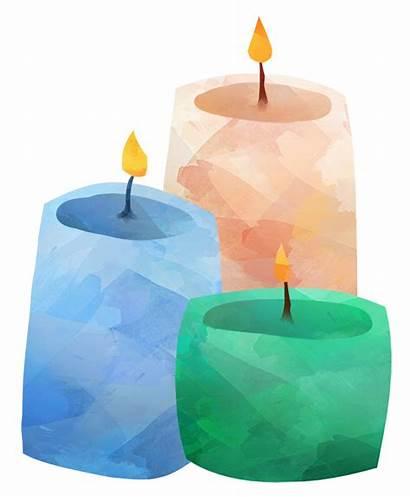 Candles Clipart Watercolor Candle Aquarell Kerzen Duftende