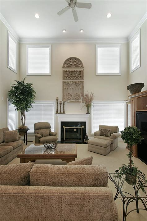 Ellegant Two Story Living Room Decorating Ideas