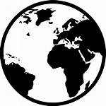 Icon Global Globe Transparent Vector Simple Map