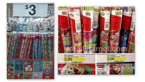 spongebob or dora gift wrap 2 at target and walmart