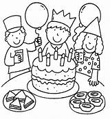 Coloring Birthday Pages Coloringpages1001 sketch template