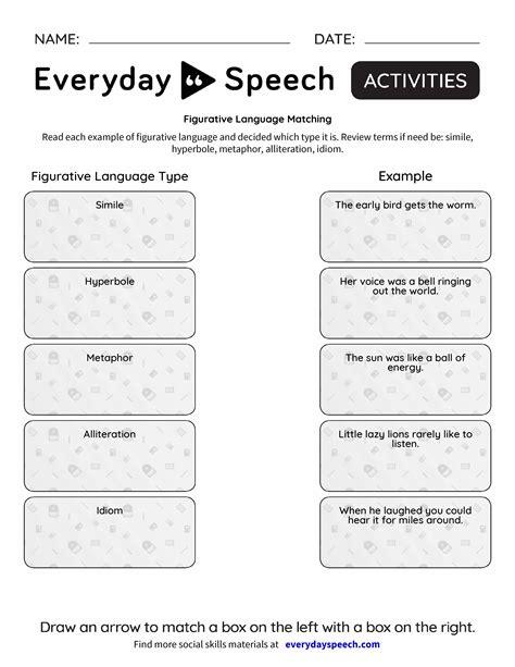 figurative language matching everyday speech everyday