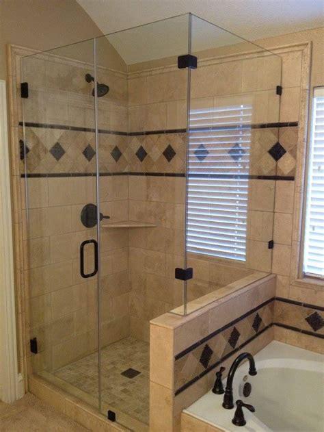 master bath remodel travertine tile  oil rubbed
