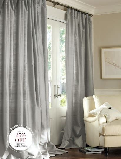 Pottery Barn Curtains Grommet by Pottery Barn Dupioni Silk Drapes In Platinum Grey Http