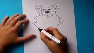 Como dibujar un oso de peluche paso a paso 2 How to draw a teddy bear 2 YouTube
