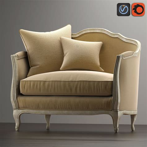 3d Model Sofa Mini Ondine Salon Bench Vr Ar Low Poly