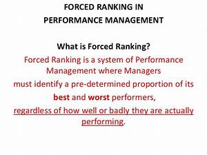 Forced ranking method of employees and use of bell curve ...