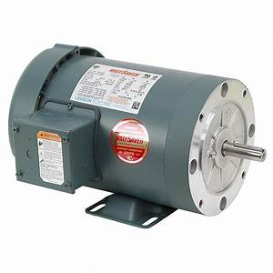 1 Hp 1800 Rpm 230  460 Volt Ac 3ph 56c Leeson Motor