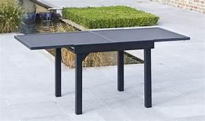 Table De Jardin En Aluminium Avec Rallonge : table jardin verre avec rallonge ~ Teatrodelosmanantiales.com Idées de Décoration
