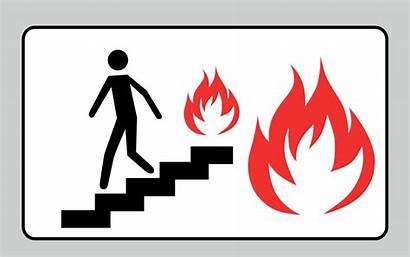Fire Drill Exit Sign Evacuation Emergency Case