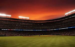 Baseball Stadium Sunset Wallpaper free desktop backgrounds ...