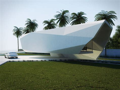 House Exterior Design Concept by Wave House By Gunes Peksen Architecture Design