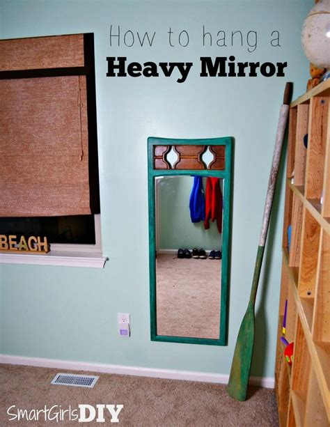 How To Hang A Bathroom Mirror On Drywall by 25 Best Ideas About Hanging Heavy Mirror On
