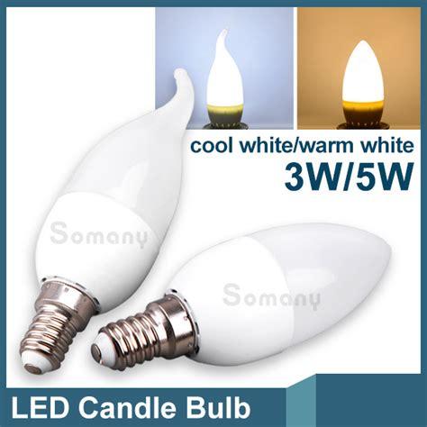bombillas 3w 5w e14 led candle light bulb 2835 smd lada