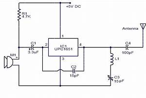 upc1651 fm transmitter electronic schematic circuit With fm voice transmitter